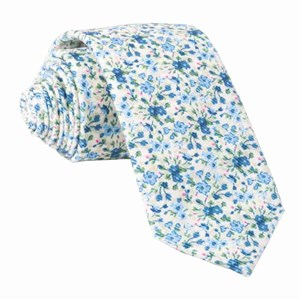 corduroy freesia floral light champagne ties