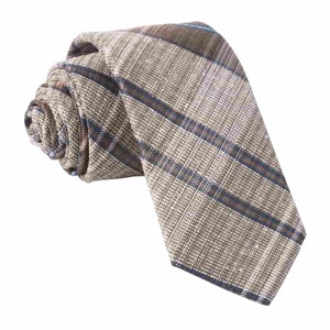 misty plaid brown ties