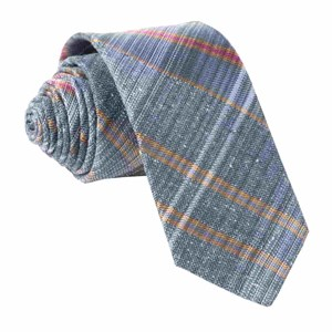 misty plaid slate blue ties
