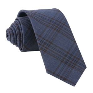harvest glen plaid navy ties