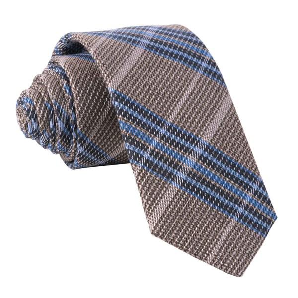 Brown Riviera Plaid Tie