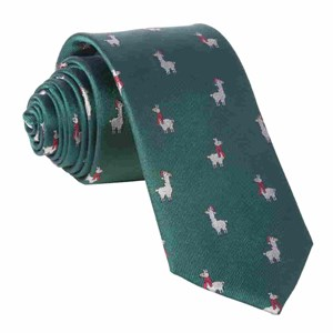 fa-la llama hunter green ties