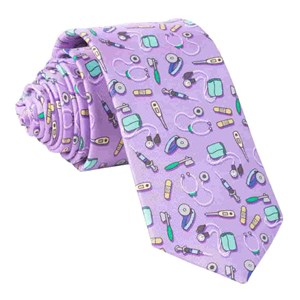 medical instruments purple ties