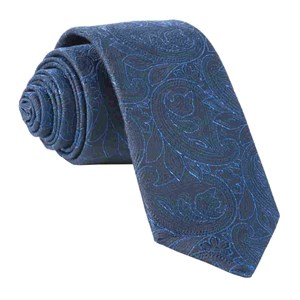 paisley fortune navy ties
