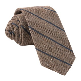 Decruise Stripe Brown Tie