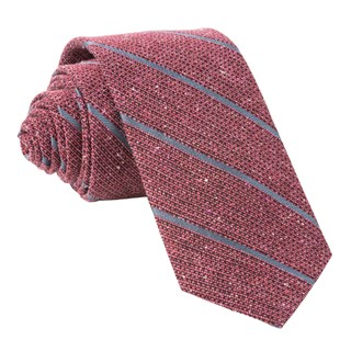 decruise stripe raspberry ties