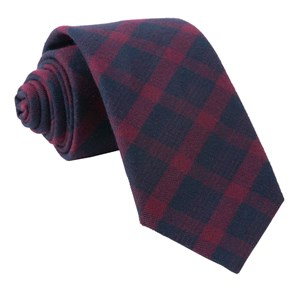 mark plaid burgundy ties