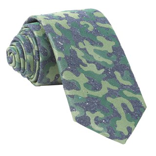 speckled camo olive green ties