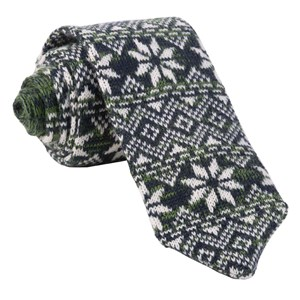 frosted snowflake green ties