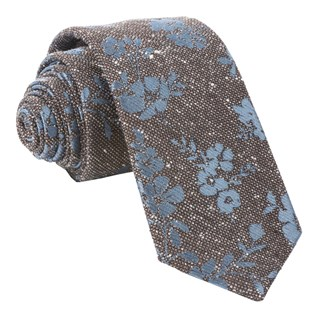 onyx floral brown ties