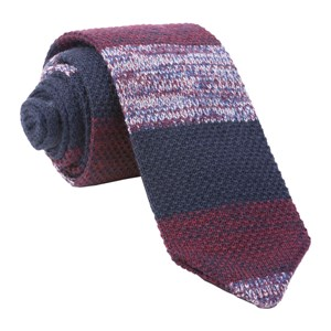 striped sweater knit burgundy ties