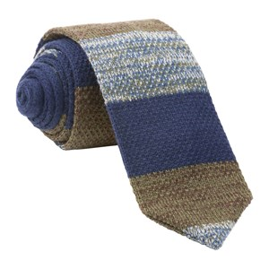 striped sweater knit olive ties