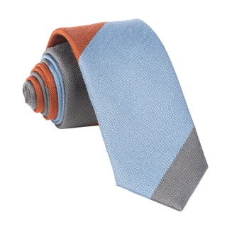 The Mega Stripe Orange Tie