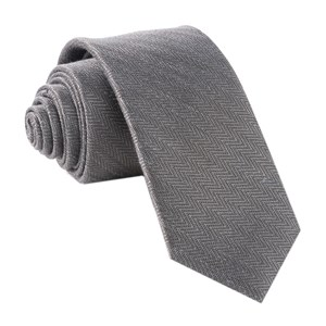 alleavitch herringbone charcoal ties