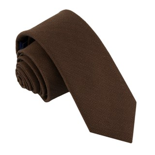 alleavitch herringbone chocolate brown ties