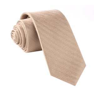 alleavitch herringbone khaki ties