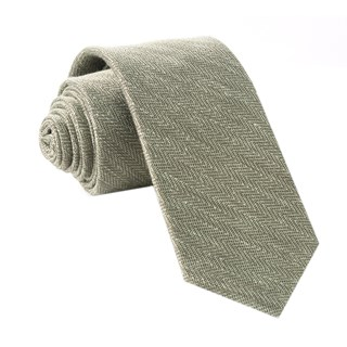 alleavitch herringbone olive green ties