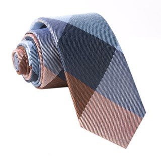 Rohrer Plaid Orange Tie