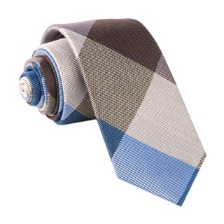 Rohrer Plaid Chocolate Brown Tie