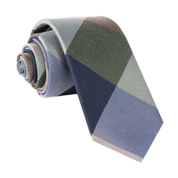 Olive Green Rohrer Plaid Tie