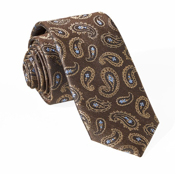 Cooper Paisley Chocolate Brown Tie