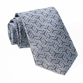 regency geo slate blue ties
