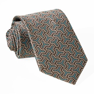 Regency Geo Chocolate Brown Tie