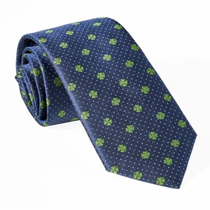 lucky four leaf clover navy ties