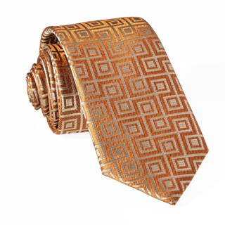 square geo orange ties