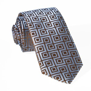 square geo slate blue ties