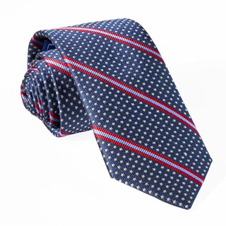 Stars And Stripes Navy Tie