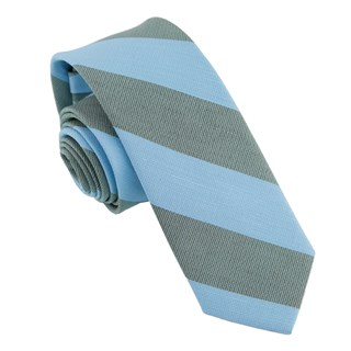 Frosty Stripe Light Blue Tie