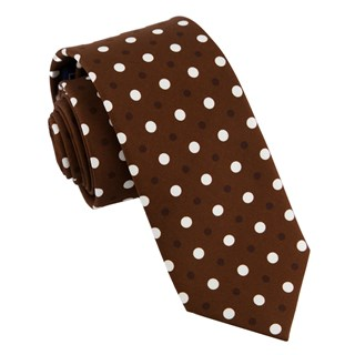 tonal dots chocolate brown ties
