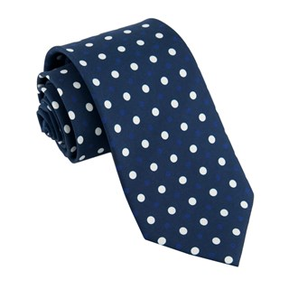tonal dots navy ties