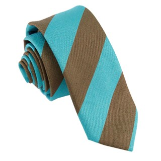 varsity bar stripe chocolate brown ties