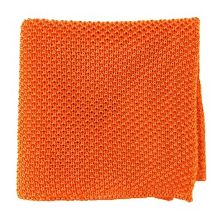 solid knit tangerine pocket square