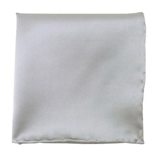 solid twill silver pocket square