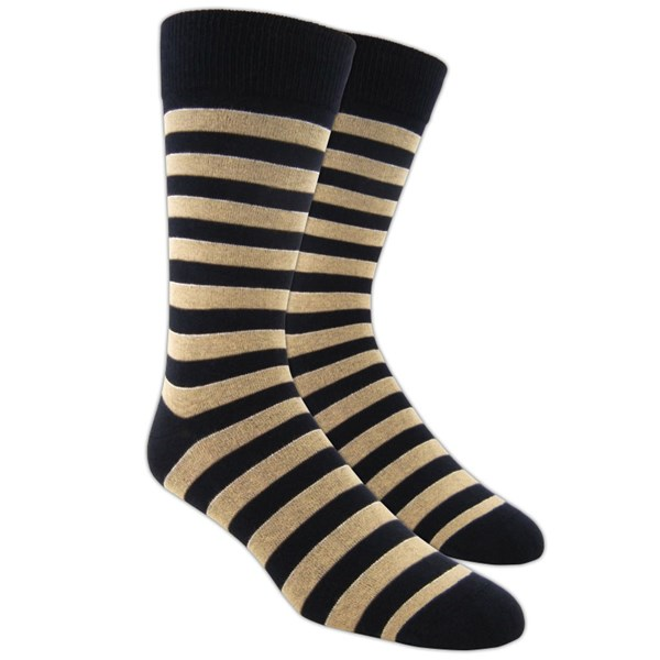 Champagne Boarding Stripe Socks