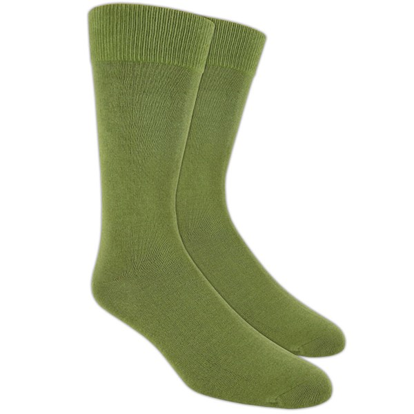 Olive Solid Socks