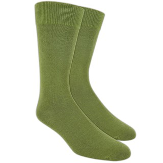 Solid Olive Dress Socks
