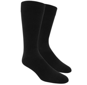 Black Solid mens socks