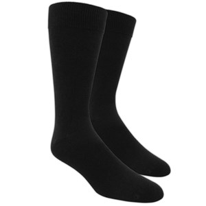 solid black dress socks