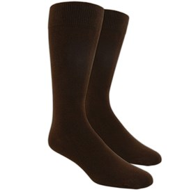 Brown Solid mens socks