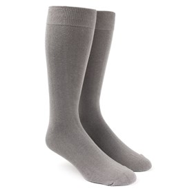 Grey Solid mens socks