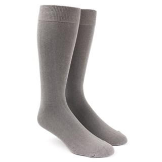 solid grey dress socks