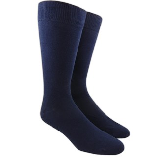 Solid Navy Dress Socks