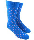 Men's Socks - PIVOT DOTS - CORNFLOWER