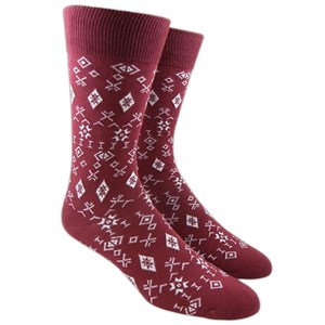knative burgundy dress socks