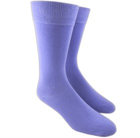 Lavender Solid mens socks