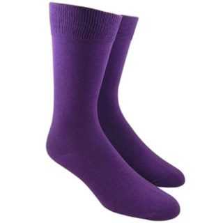 Solid Plum Dress Socks
